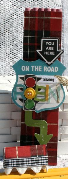 OA Road Map Pencil Box Open