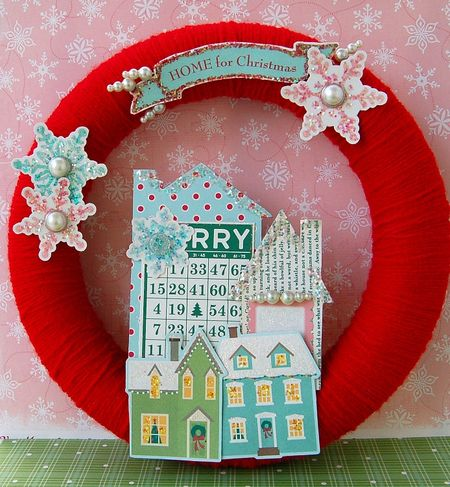 Home for Christmas wreath
