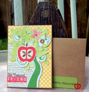All natural friend card with envelope
