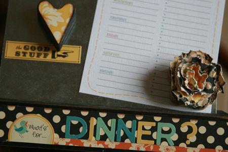 DINNER closeup