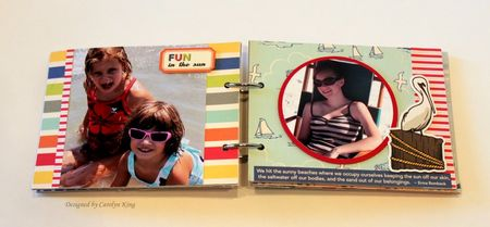 CK Summer 2010 Keepsake box album page 3-4