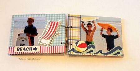 CK Summer 2010 Keepsake box album page 5-6