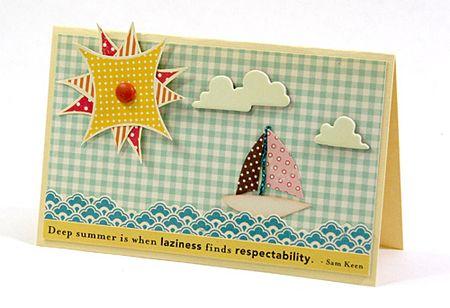 Card-summersailboat