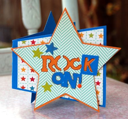 Rock on star card