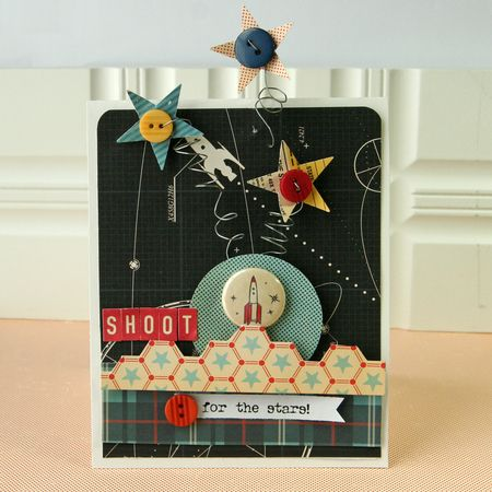Shoot for the stars card