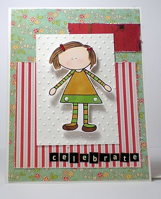 Seaside girl card