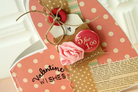 Valentine wishes card - upclose1