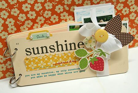 Sunshine mini album - front cover
