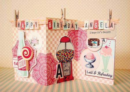 Happy Birthday Chip Shape Card OA