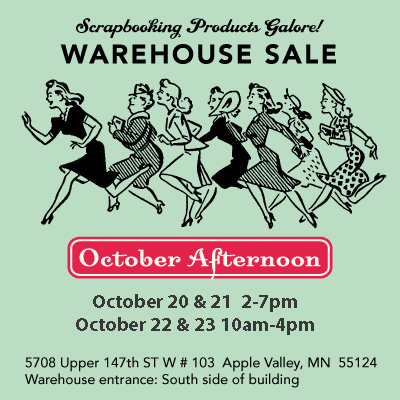 october afternoon warehouse sale