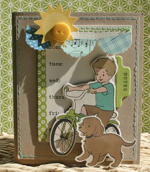 Oa card sketch danni reid boy card