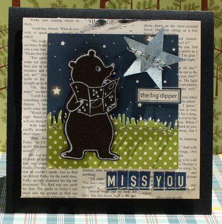 Miss You Card by Danni Reid
