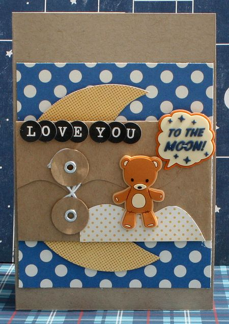 Love You To The Moon Card by Danni Reid