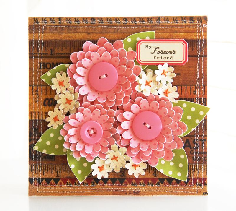 Как сделать цветочки для открыток