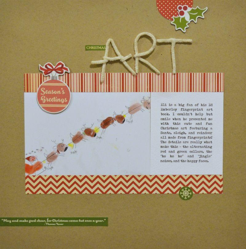 Christmas Art - Vivian Masket Layout