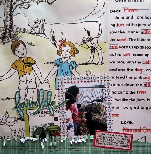 Farm Girl Mou layout kids