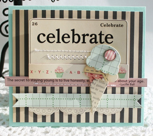 Cakewalk Danni ice cream Card
