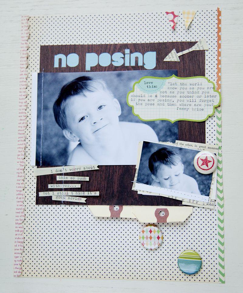 No posing