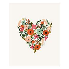 Floral Heart Signature Print