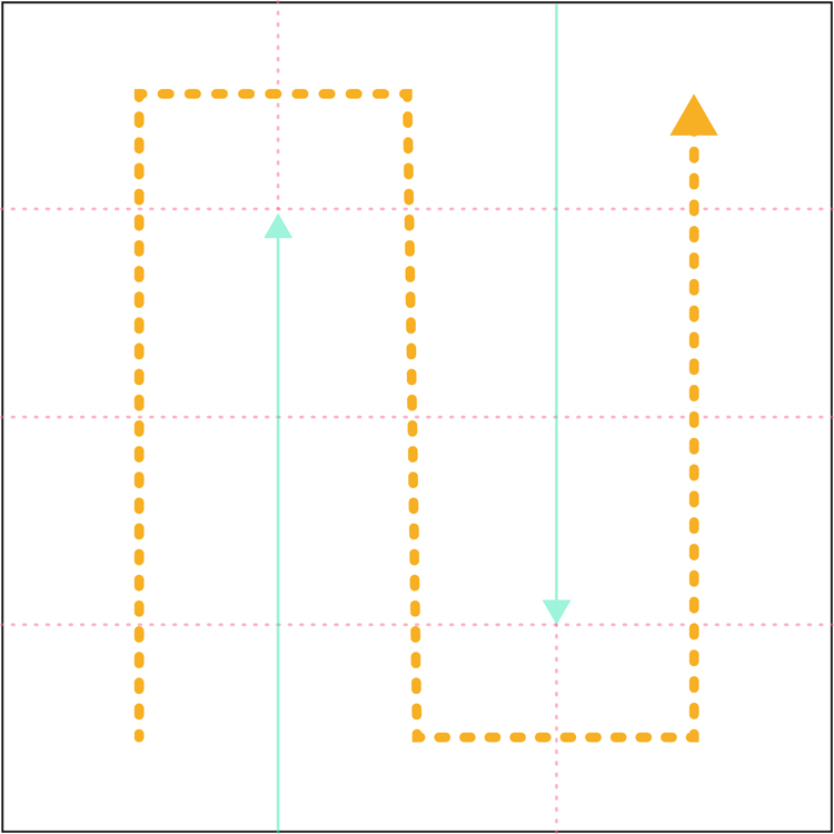 Folding direction