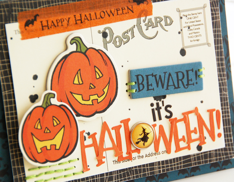 Roree-OA Oct12-Oct 4 Sketch-Beware! It's Halloween! closeup 2
