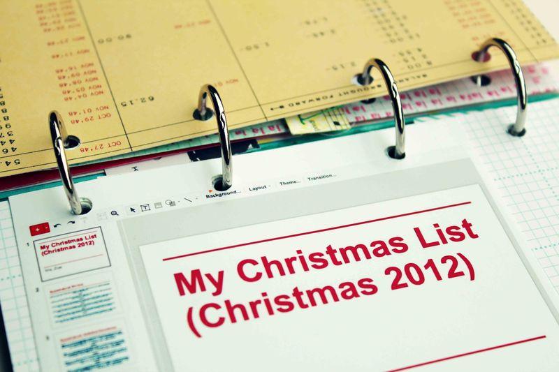 OA Dec Album Christmas List