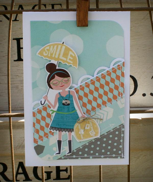 Umbrella smile card detail