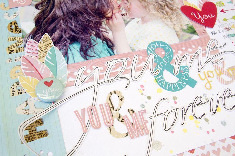 Alex Gadji - You & Me layout closeup