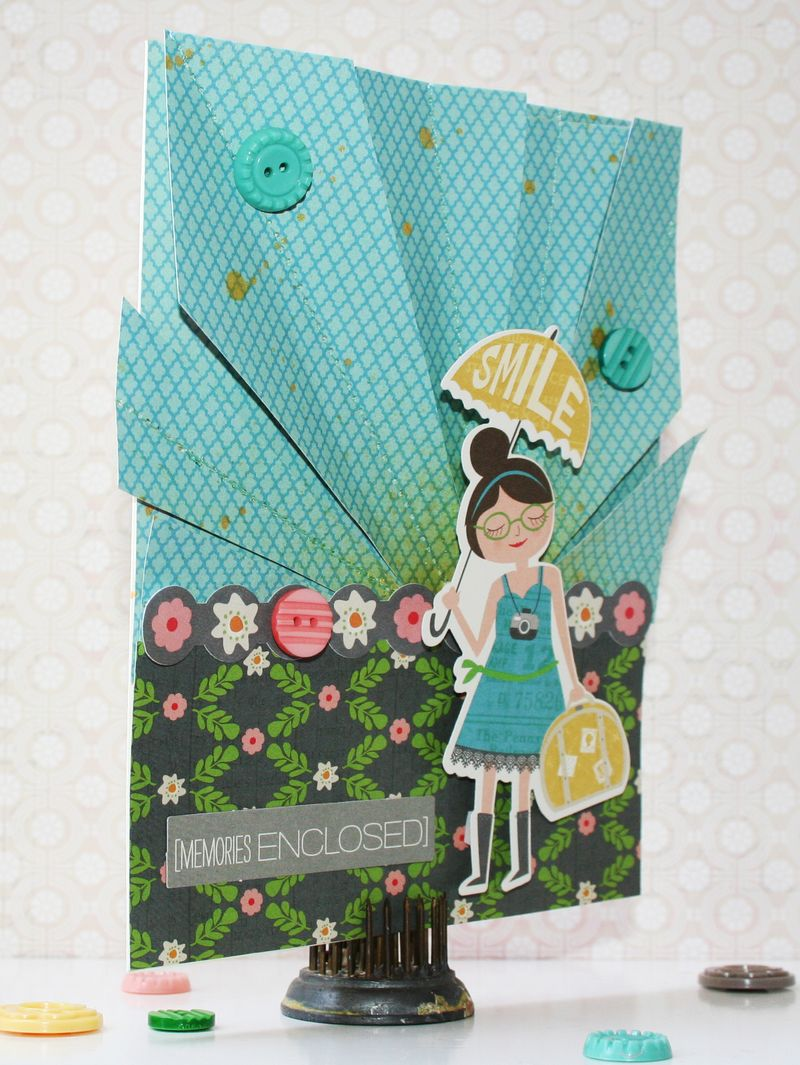 Smile Card Side by Heather Leopard for October Afternoon