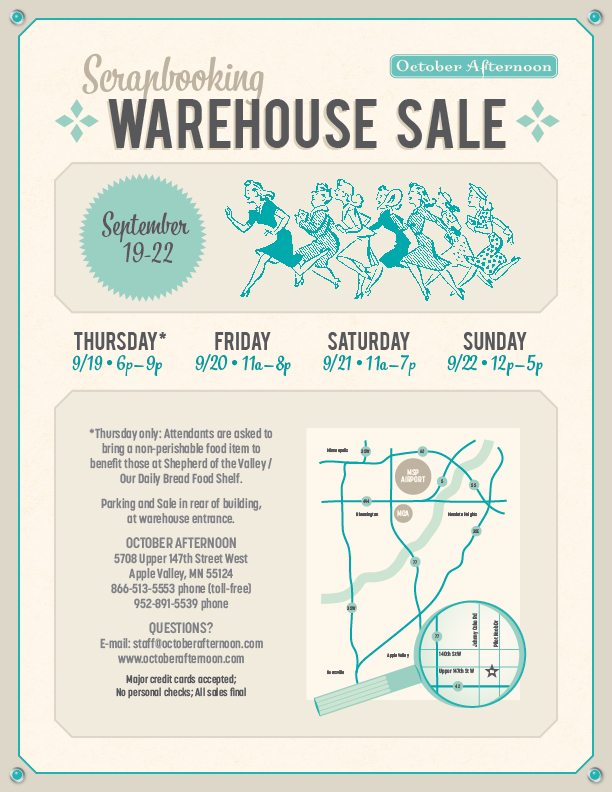 2013 OA Warehouse Sale Flyer