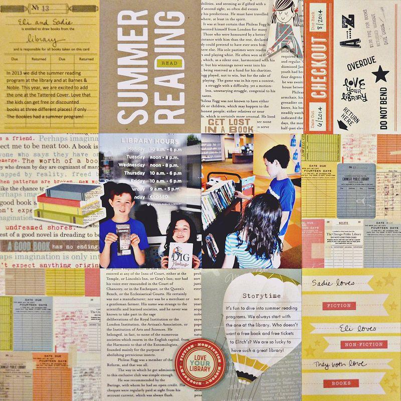 Summer Reading Sketch Layout Vivian Masket